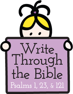 Write Through the Bible: Copywork Printables Focused on God's Word - Available in both Psalms and Philippians