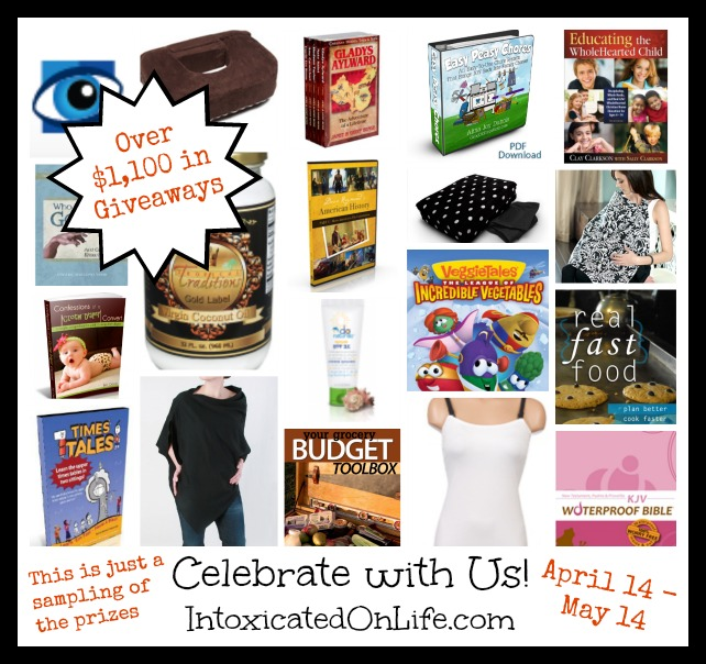 Celebrate Intoxicated on Life Birthday: Check back all month to enter to win some of these awesome giveaways (and more!)