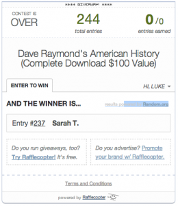 Giveaway of Dave Raymonds