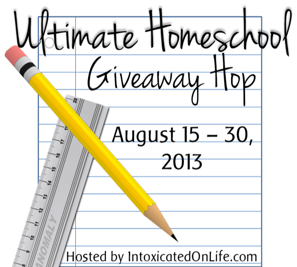 Enter the Ultimate Homeschool Giveaway Hop! Win nearly $1000 in homeschool resources and curriculum.