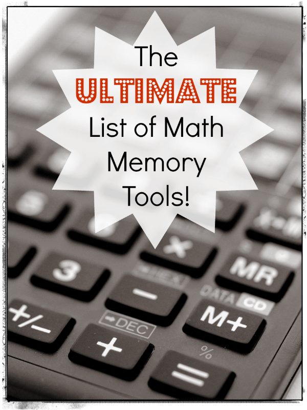 The Ultimate List of Math Facts Memory Tools!