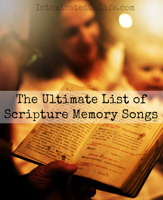 The Ultimate List of Scripture Memory Songs