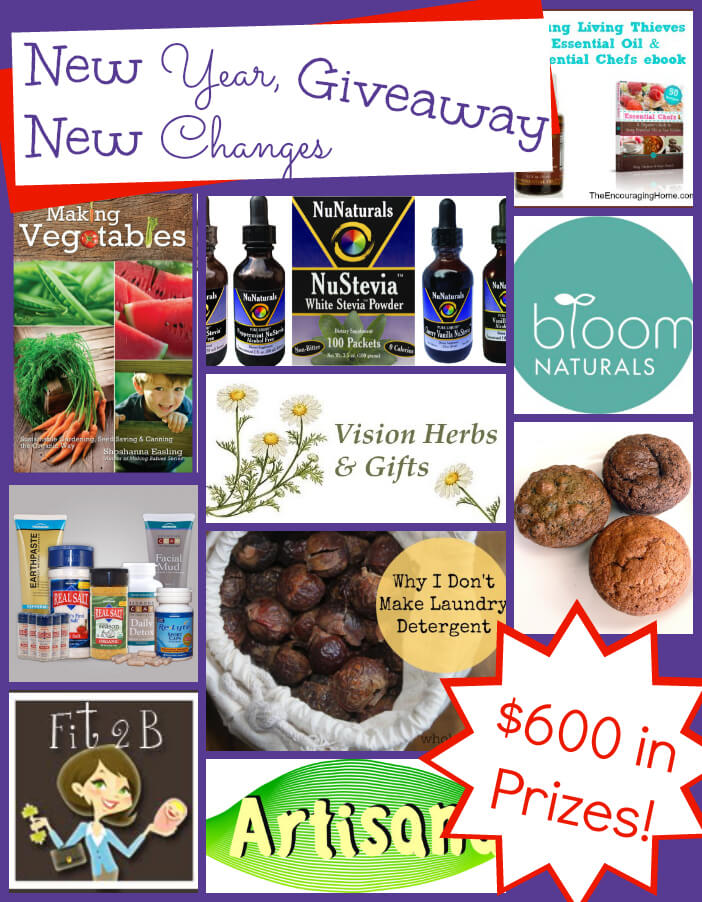 It's a New Year! Make some new changes with this awesome giveaway. AND Pick up a DISCOUNTED copy of Weeding out Wheat to find out why taking wheat out of your diet could make a huge impact. $600 value ends 1/7/14