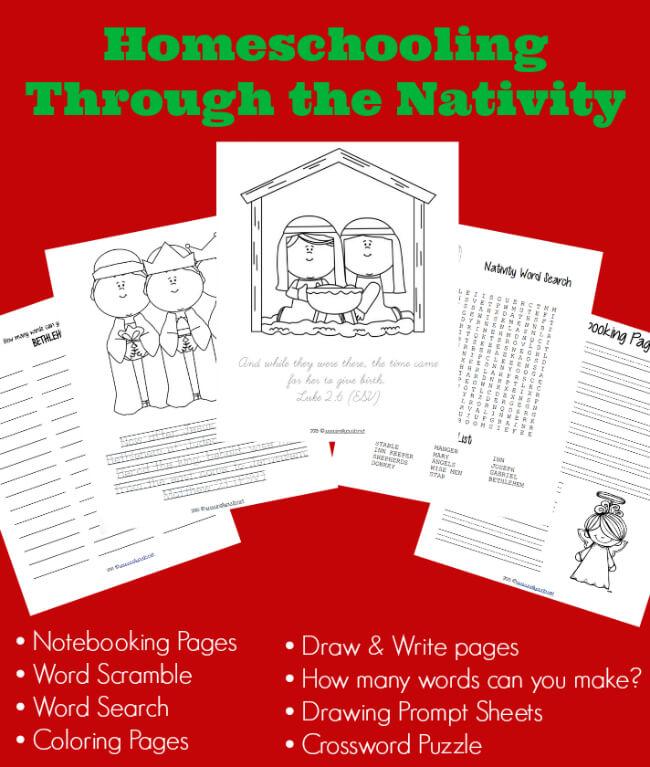 Homeschooling Through the Nativity free unit study on IntoxicatedOnLife.com
