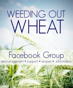 "Join our ""Weeding Out Wheat"" Facebook Group for encouragement and support on your wheat-free journey."