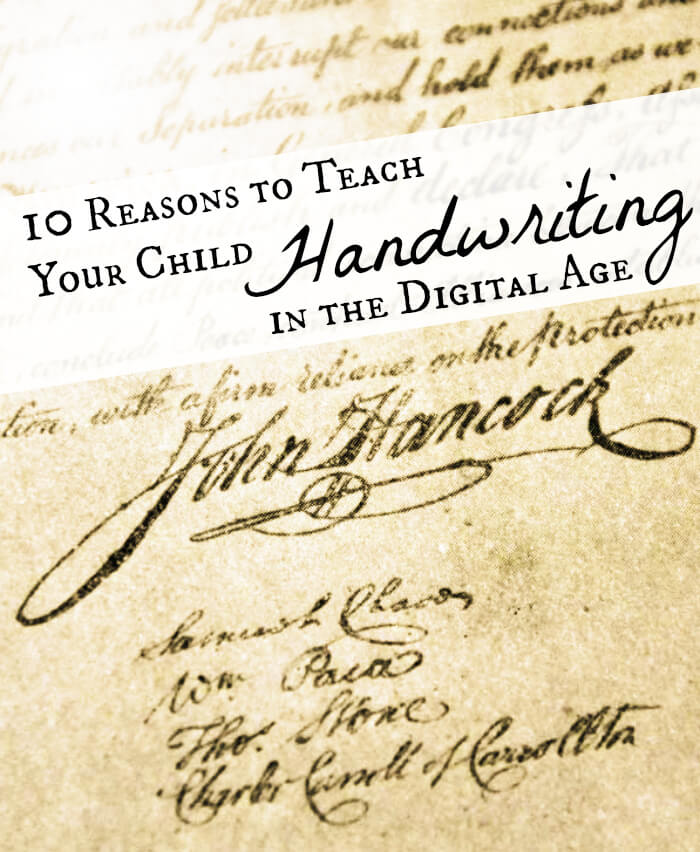 Reasons to Teach Kids Handwriting