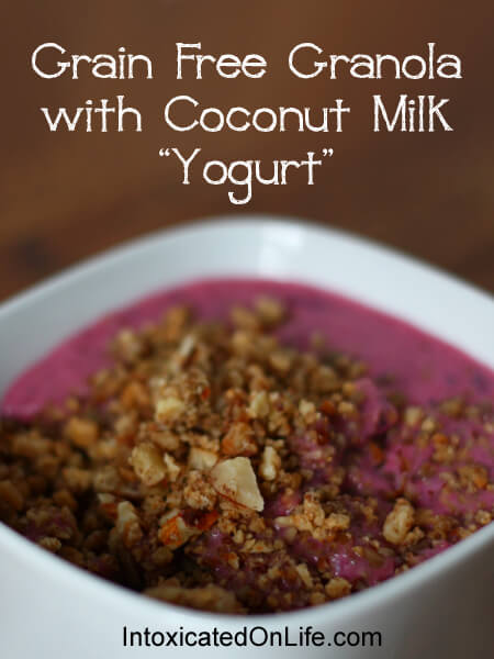 Grain Free Granola with Coconut Milk Yogurt