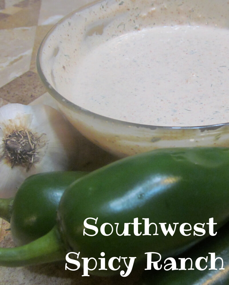 Homemade Southwest Spicy Ranch Dressing   GrowingUpTriplets.com #saladdressing #condiments