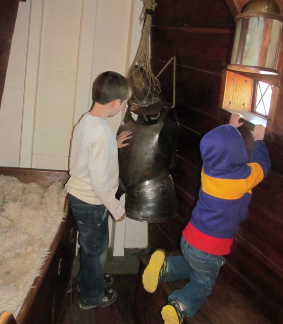 Bradley and Cameron in the captained quarters