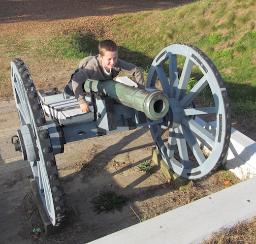 Bradley at Yorktown Battlefield