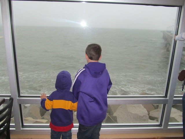 Cameron and Bradley looking at the water