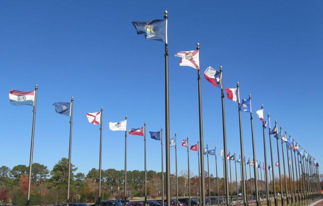 Jamestown flags