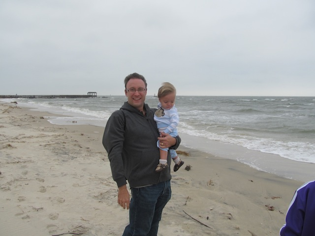 Luke and Elliot on the Bay