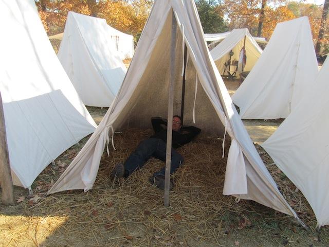 Luke camping out