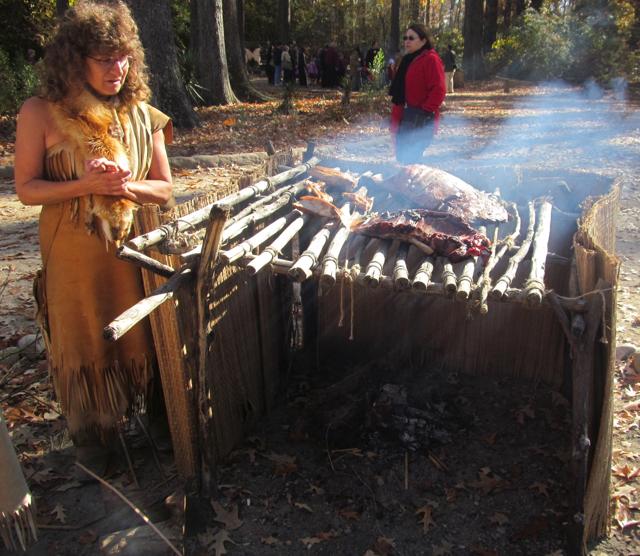 Smoking meat in Jamestown