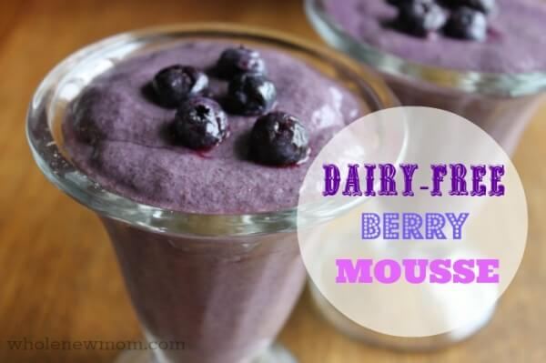 Dairy Free Berry Mousse