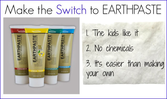 Switch to Natural Toothpaste: Try earthpaste