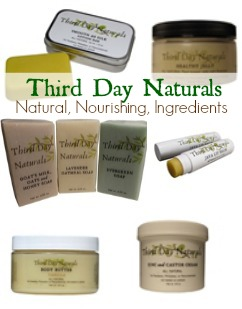 Third Day Naturals: natural skincare products that with nourish your body.
