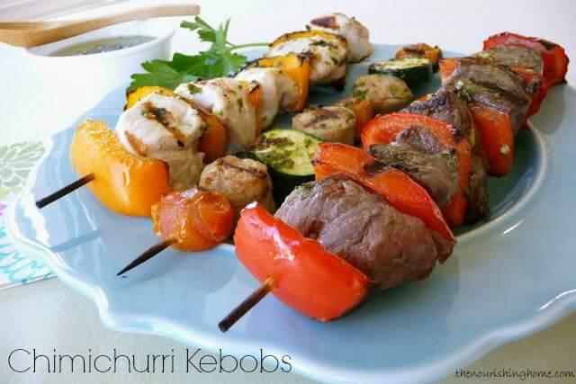 Chimichurri-Sauce-Kebobs